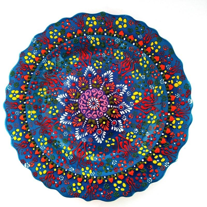 Купить-цветные-керамические-тарелки-Посуда-для-еды-закусок-декоративная-на-стену-сувенирная